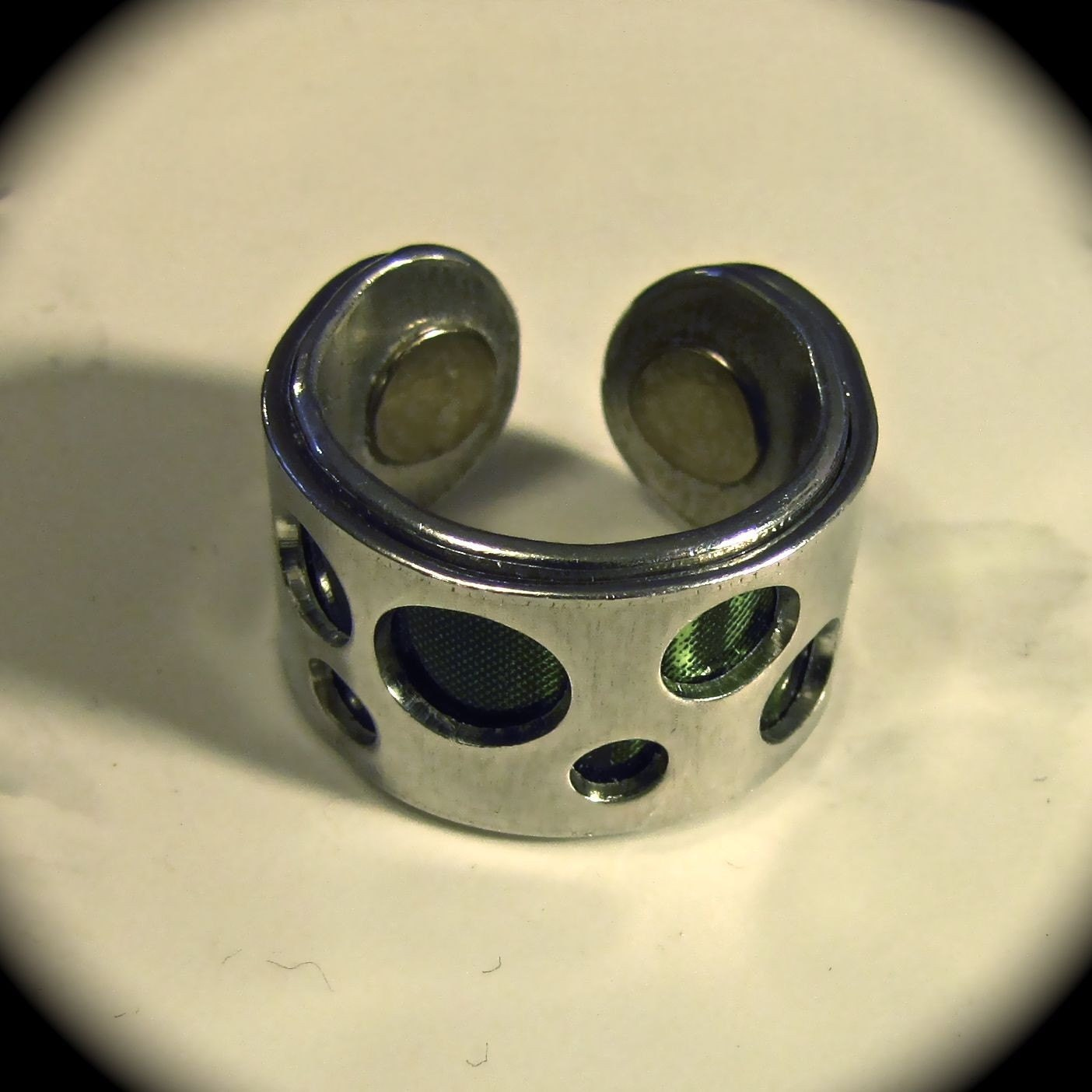Upcycle - Peek a Boo Soda Can Adjustable Ring - 1/2 Inch Wide