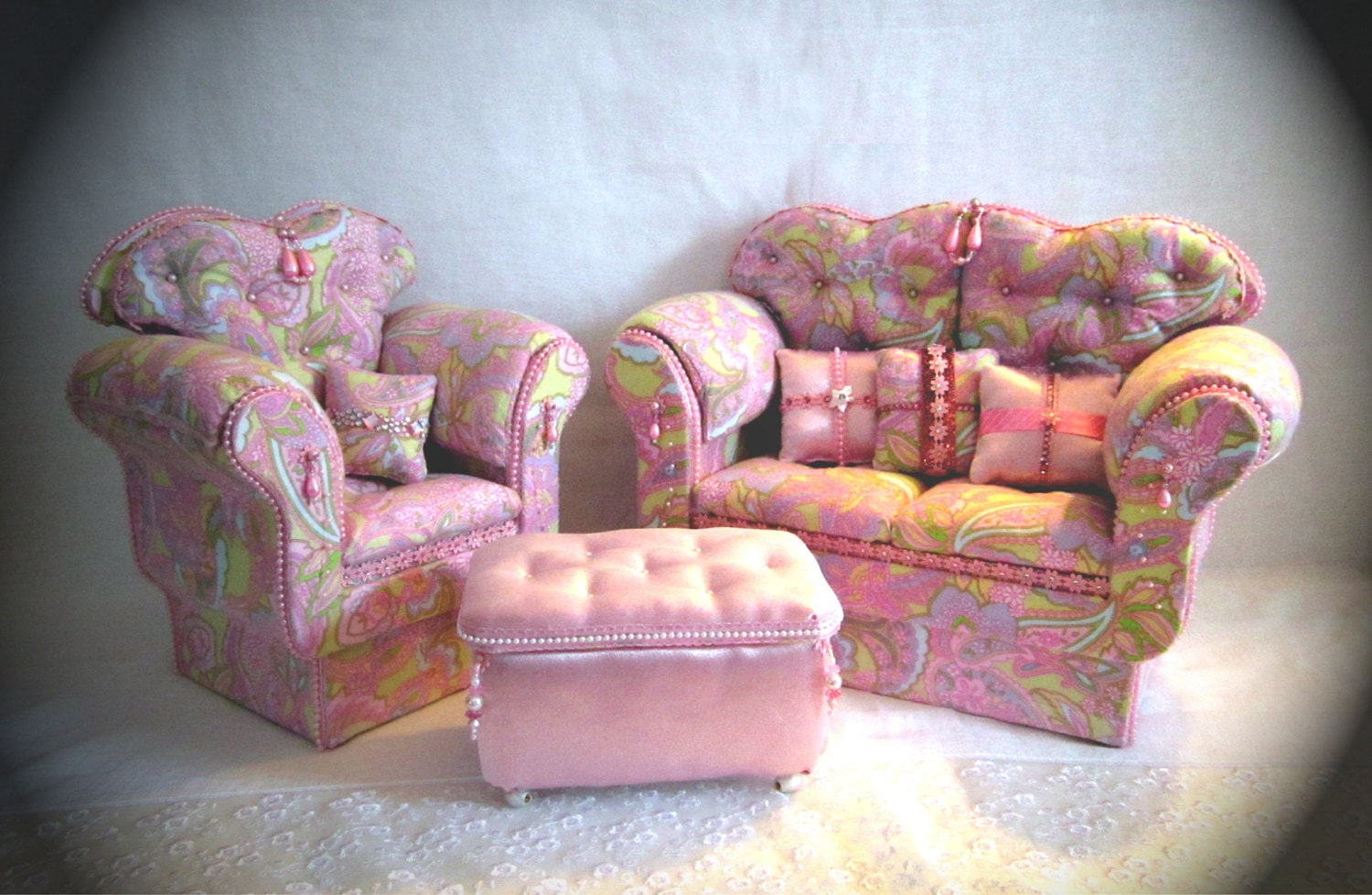 18 Doll American Girl Living Room Set By Hkdesignz On Etsy