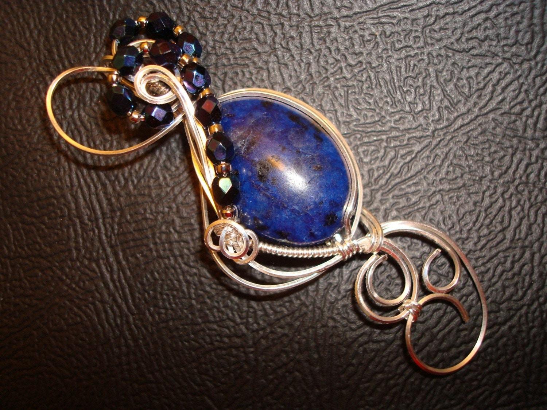 Lapis Jasper Gemstone Sterling Silver Pendant