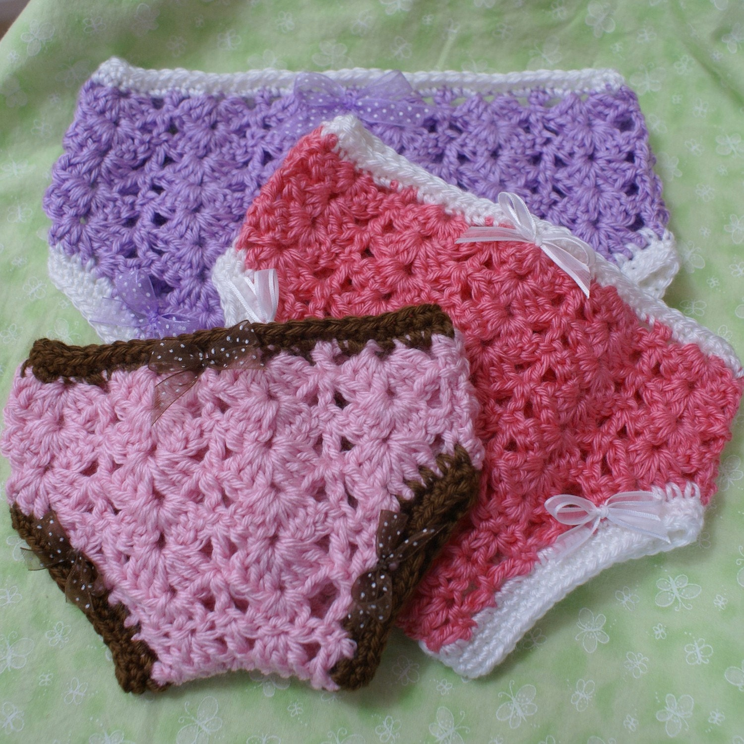 PDF Crochet Pattern for Princess Diaper Cover  sizes by ebethalan
