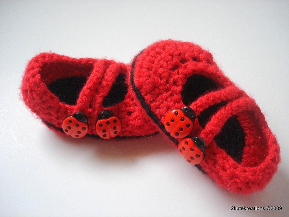 Ladybug Mary Janes