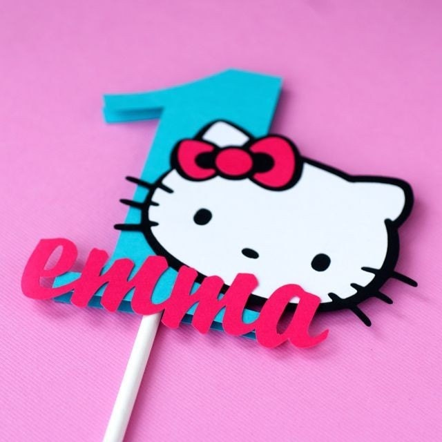 Hello Kitty Cake Topper - Personalized. From madebyjackie