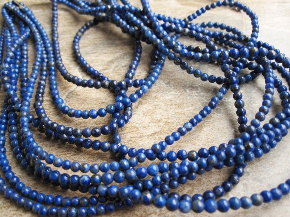 3mm Round Lapis Lazuli
