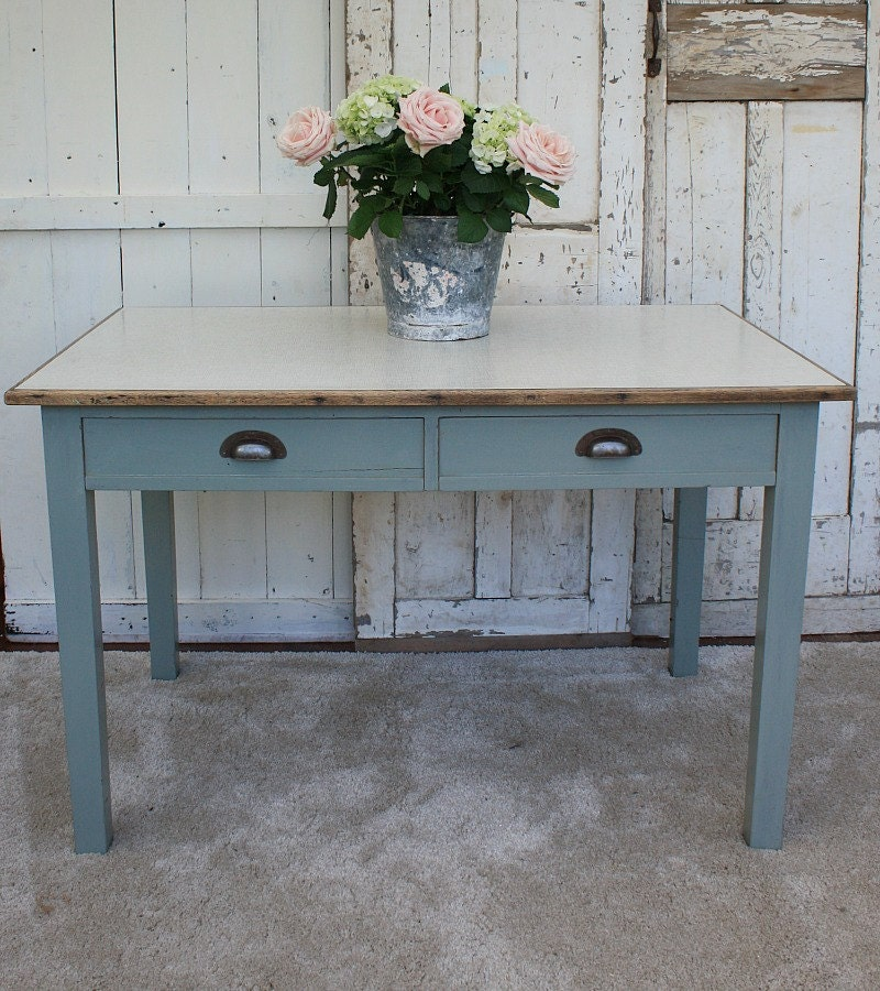 Solid Wood  Kitchen Table  Vintage Table  Painted Table  Dining Table  Craft Table  Farrow and Ball