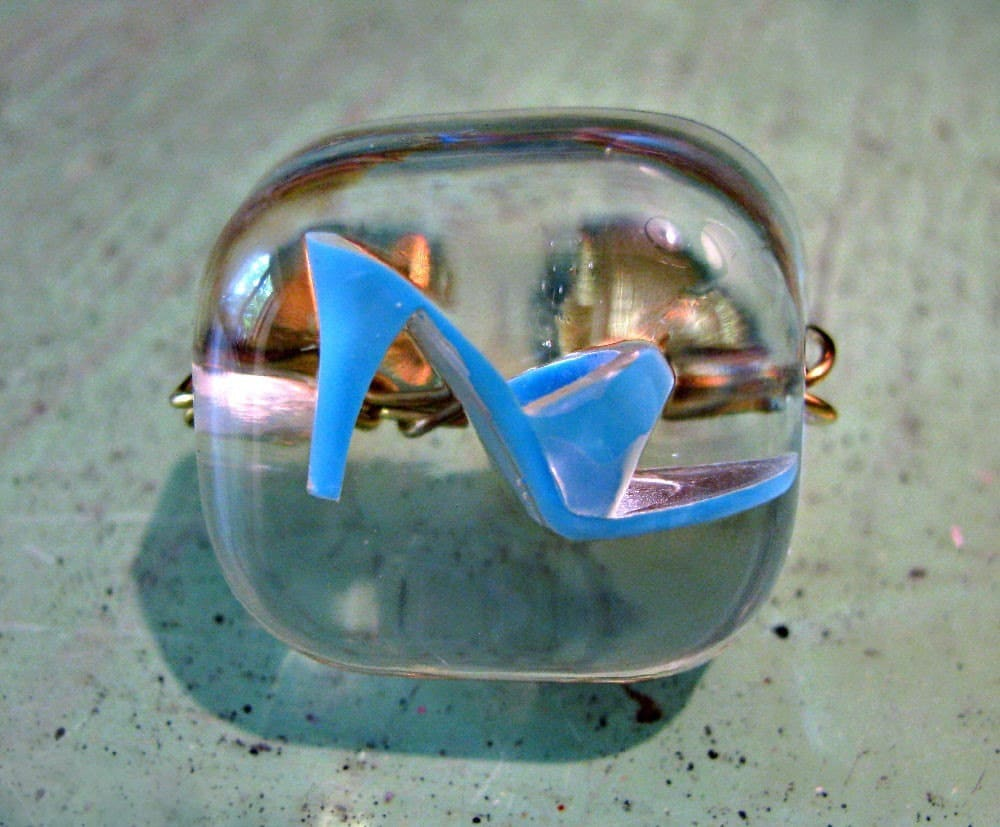Barbie Lost her Shoe - Baby Blue Resin Ring