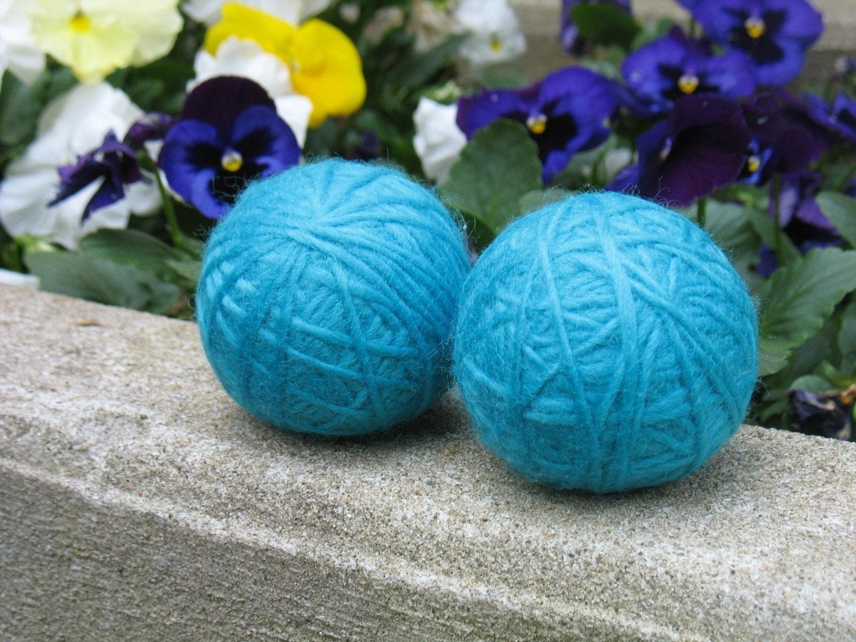 Wool Dryer Balls - Set of 2 Aquamarine