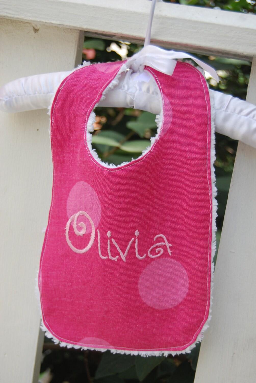 Handmade Personalized Baby Bib