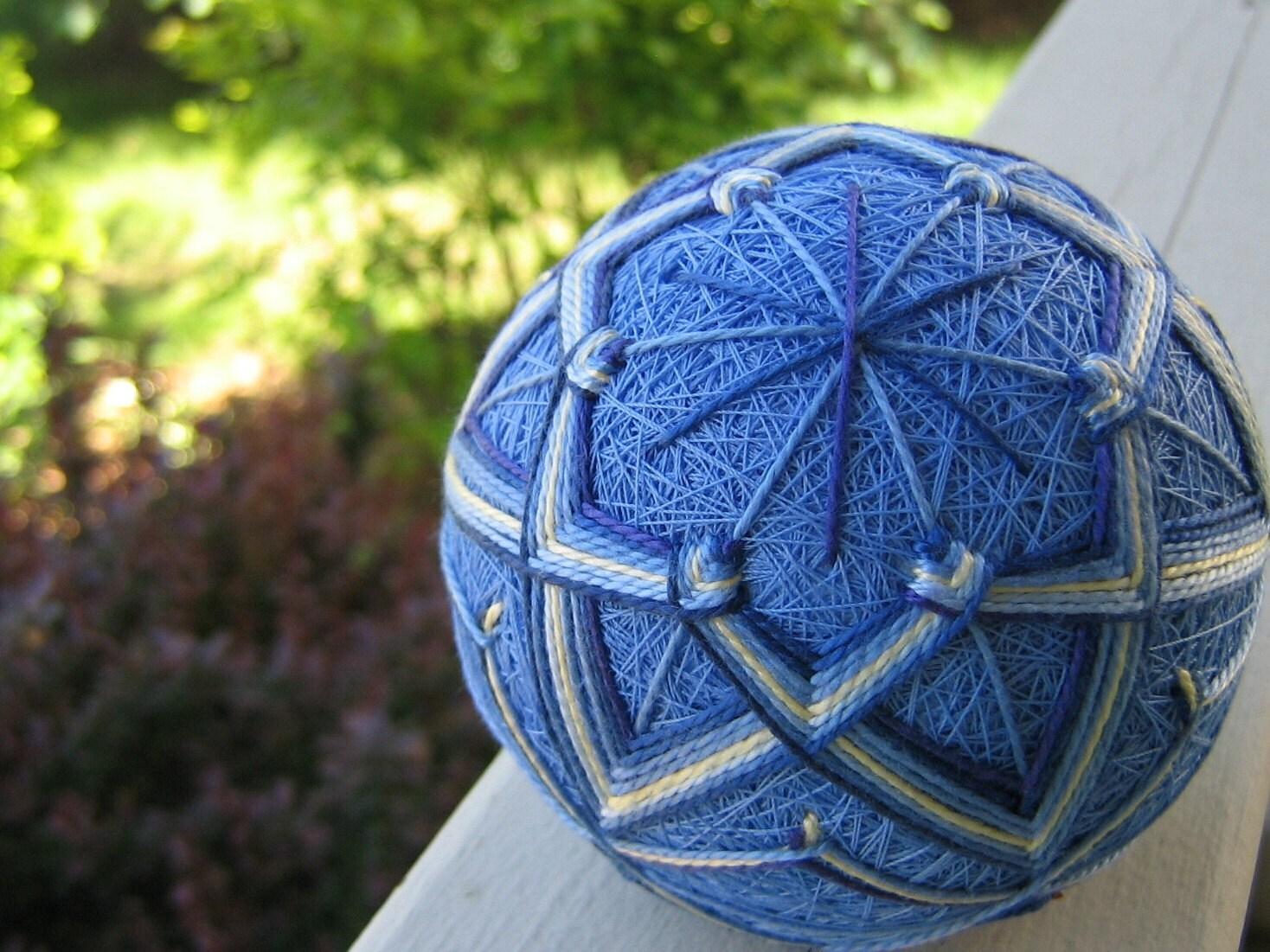 Японская вышивка шаров Темари