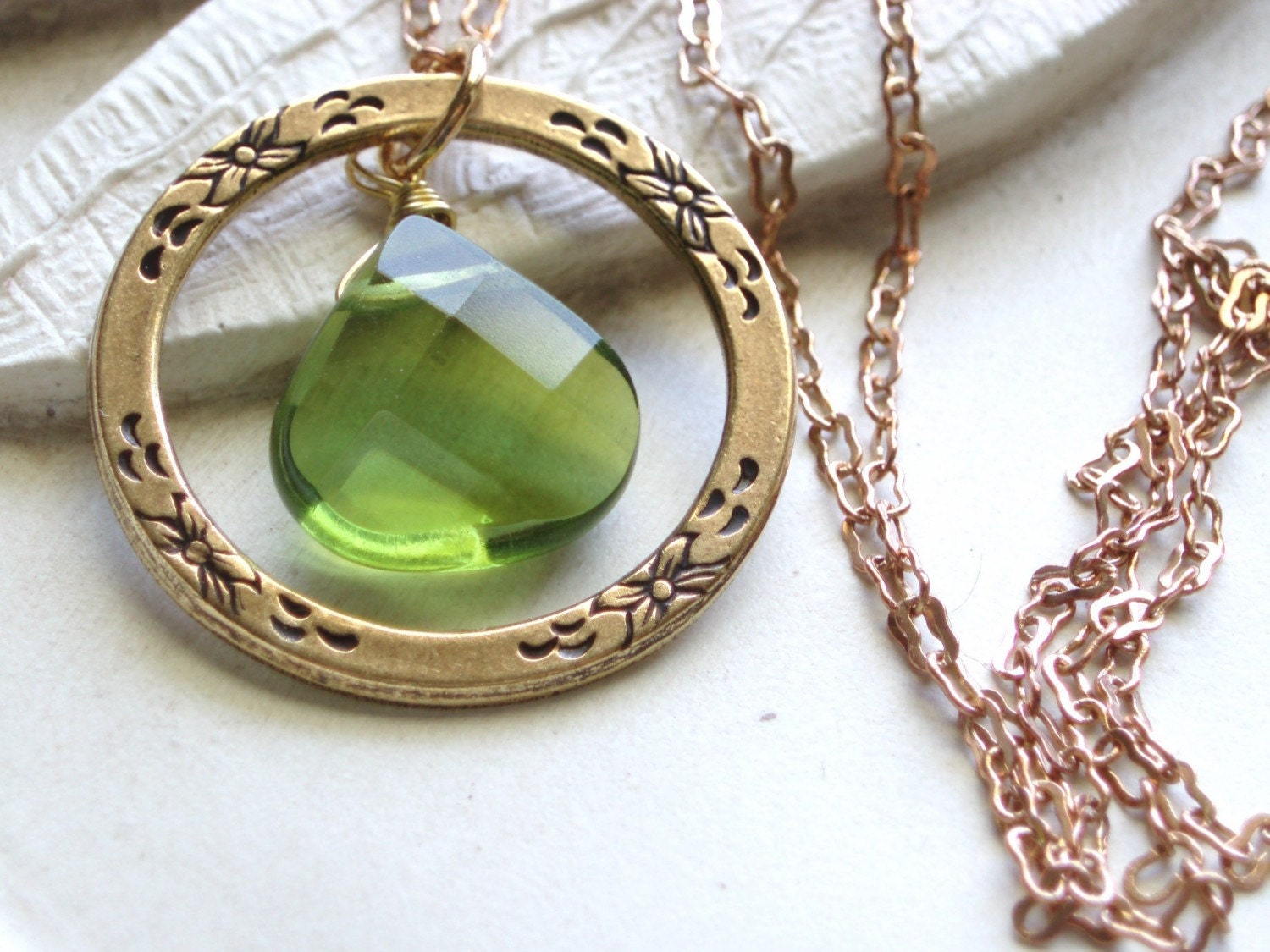 Peridot Moon - August Birthstone Necklace