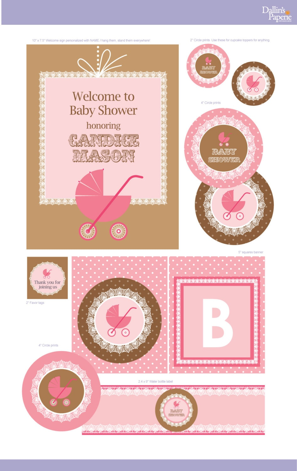Stroller Baby Shower Decorations 570 x 904