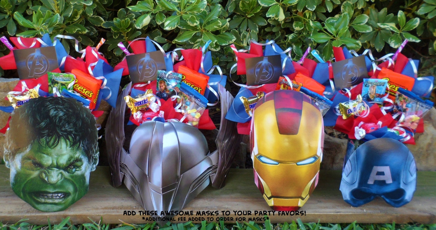 Avengers Party Decorations Similiar Marvel Birthday Party Centerpiece With Candy Keywords