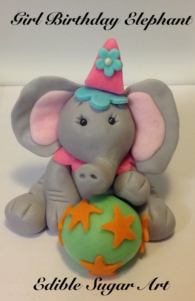 Circus elephant cake topper - photo#27