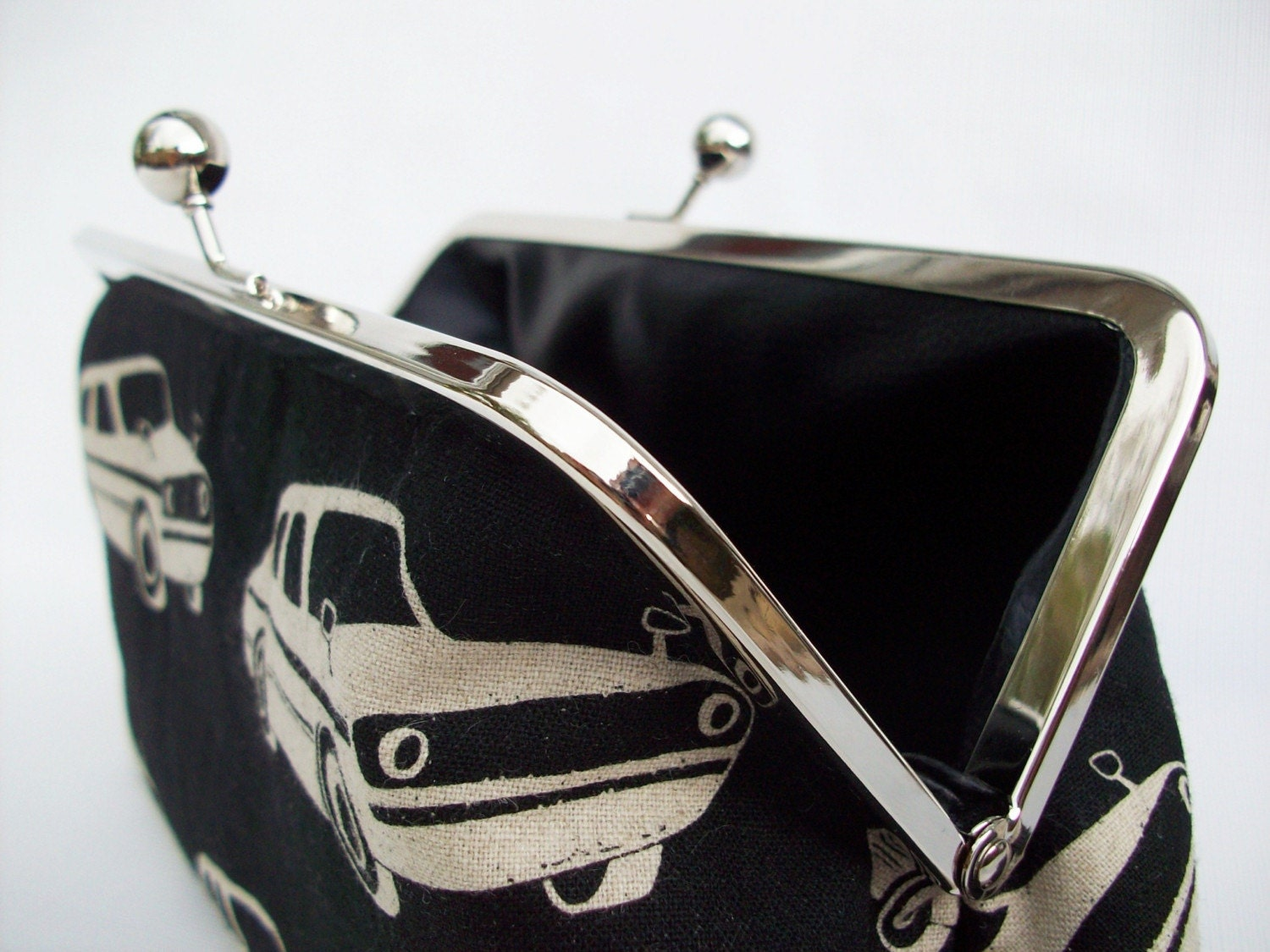 Roadster Car and Faux Leather Clutch Purse