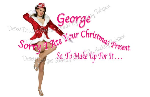 Adult Christmas Humor Card. From AnnKayGreetingCards