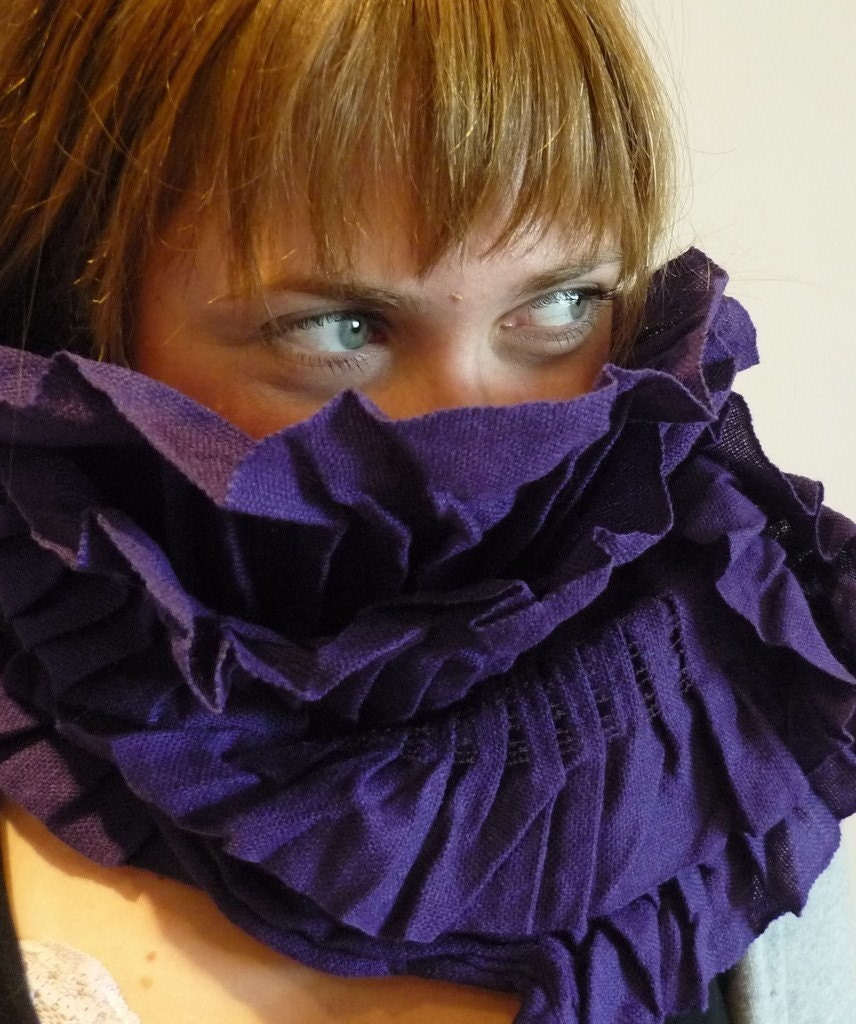 Morning Bloom-an organic purple scarf