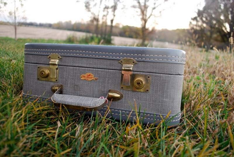 Vintage Small Travel Suitcase