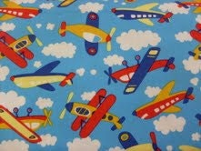Flying high airplanes fabric by the half yard kids sky for Childrens airplane fabric