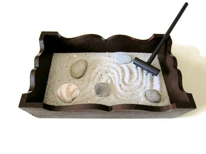 zen garden mini miniature table top set home by paintspiration. Black Bedroom Furniture Sets. Home Design Ideas