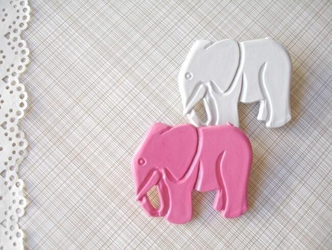 joe the elephant - pink or gray pin, cameo pin.