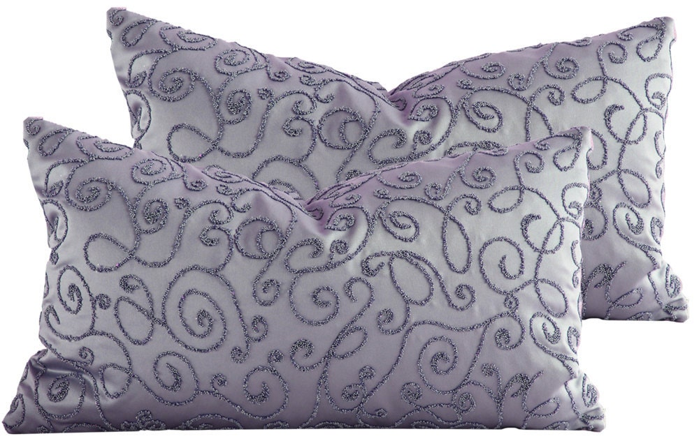 12x20 Lumbar Pillow Cover . Lavender Evening at the Ball