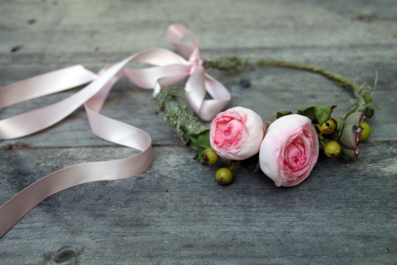 Мечтая о единороги глава Венок - Розовый цветочные короны - Аксессуары для волос Люкс - Розовые цветы - Tiara Halo - Лето Свадебные