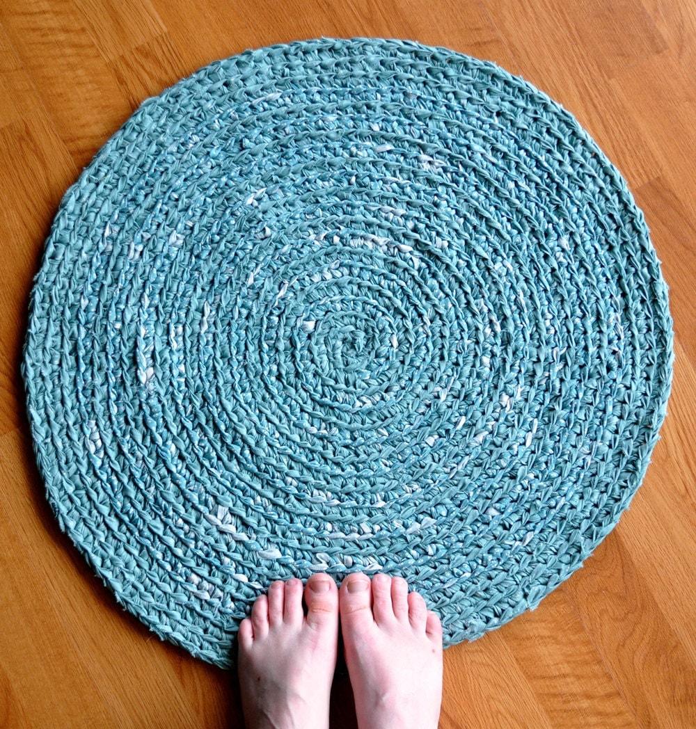 how to make round crochet rug