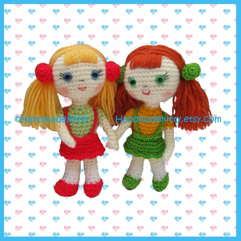 Candy Girls Amigurumi PDF Crochet Pattern by HandmadeKitty