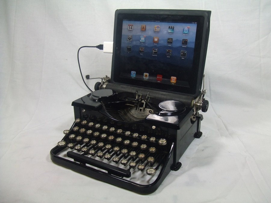 USB Typewriter for PC, Mac, iPad -- Black Royal