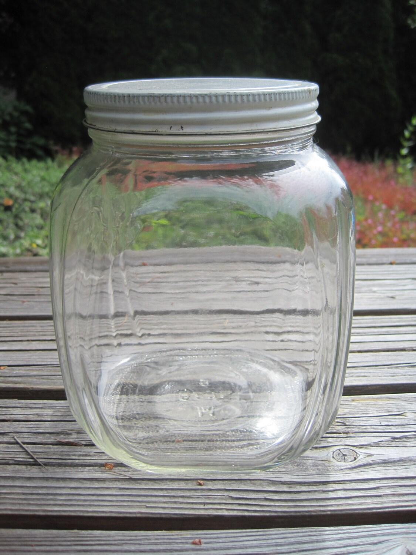 Glass Christmas Tree Jar