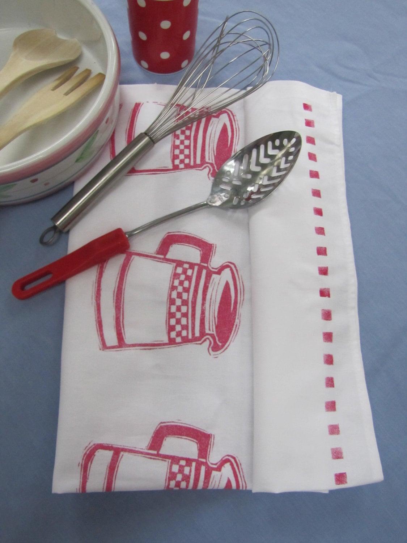 American Diner Stripe Tea Towel
