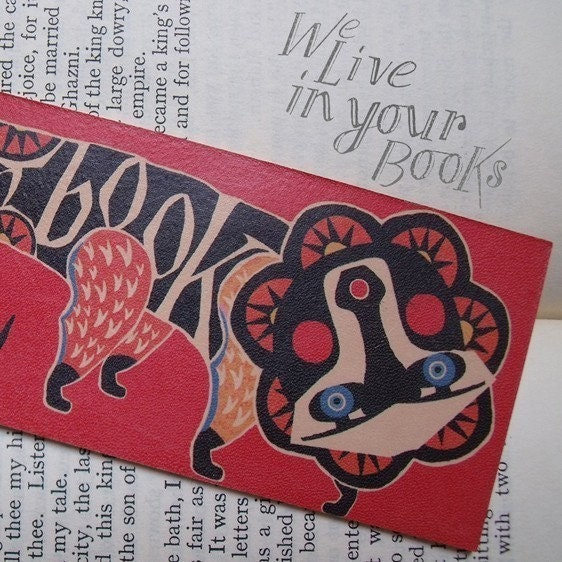 Leather Bookmark - Red Lion