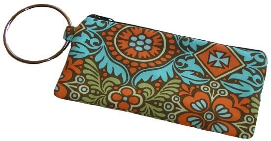 Handmade Kashmir Eastern Inspired Bangle Wristlet Clutch Zipper Pouch