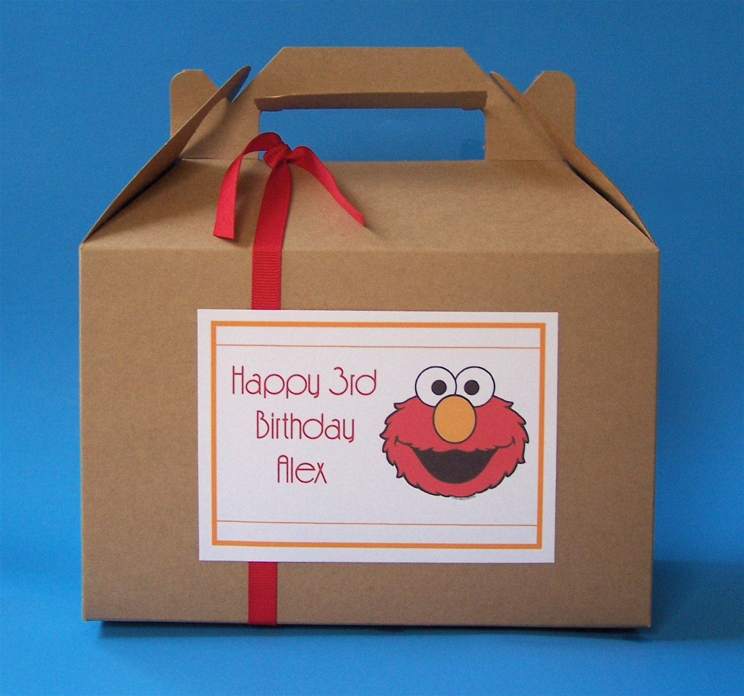 Elmo Gable Party Boxes / lunch box/ party favors
