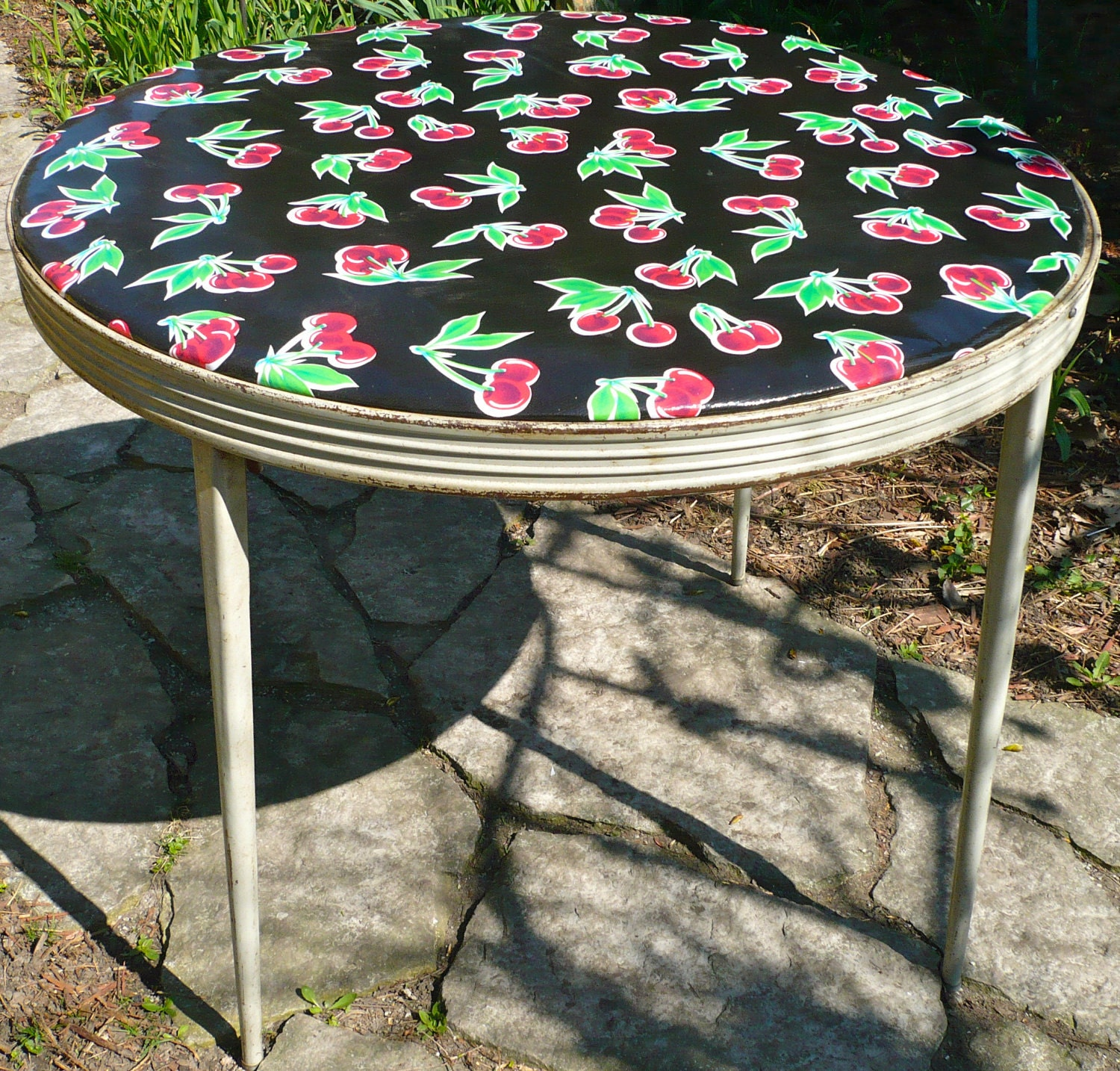 Durham Folding Round Card Table Retro Vintage By