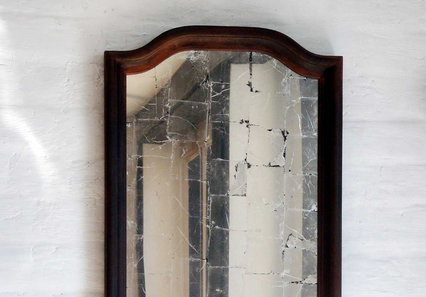 Verre Eglomise Mirror & Rusted Frame, Tall