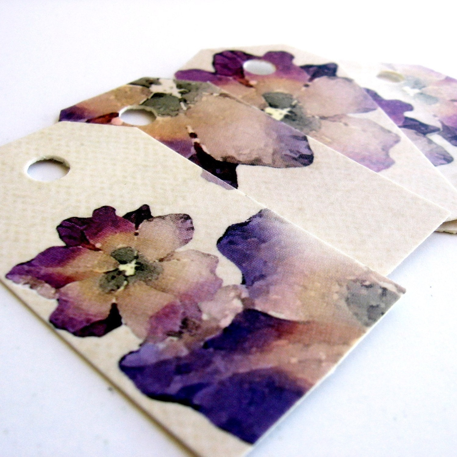 30 Fancy, high quality, Forget Me Not, romantic, SHABBY CHIC,  recycled paper party favor tags