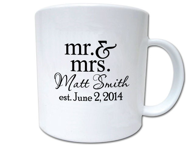 100 Wedding Favor Custom Personalized Mugs by Factory21 on Etsy