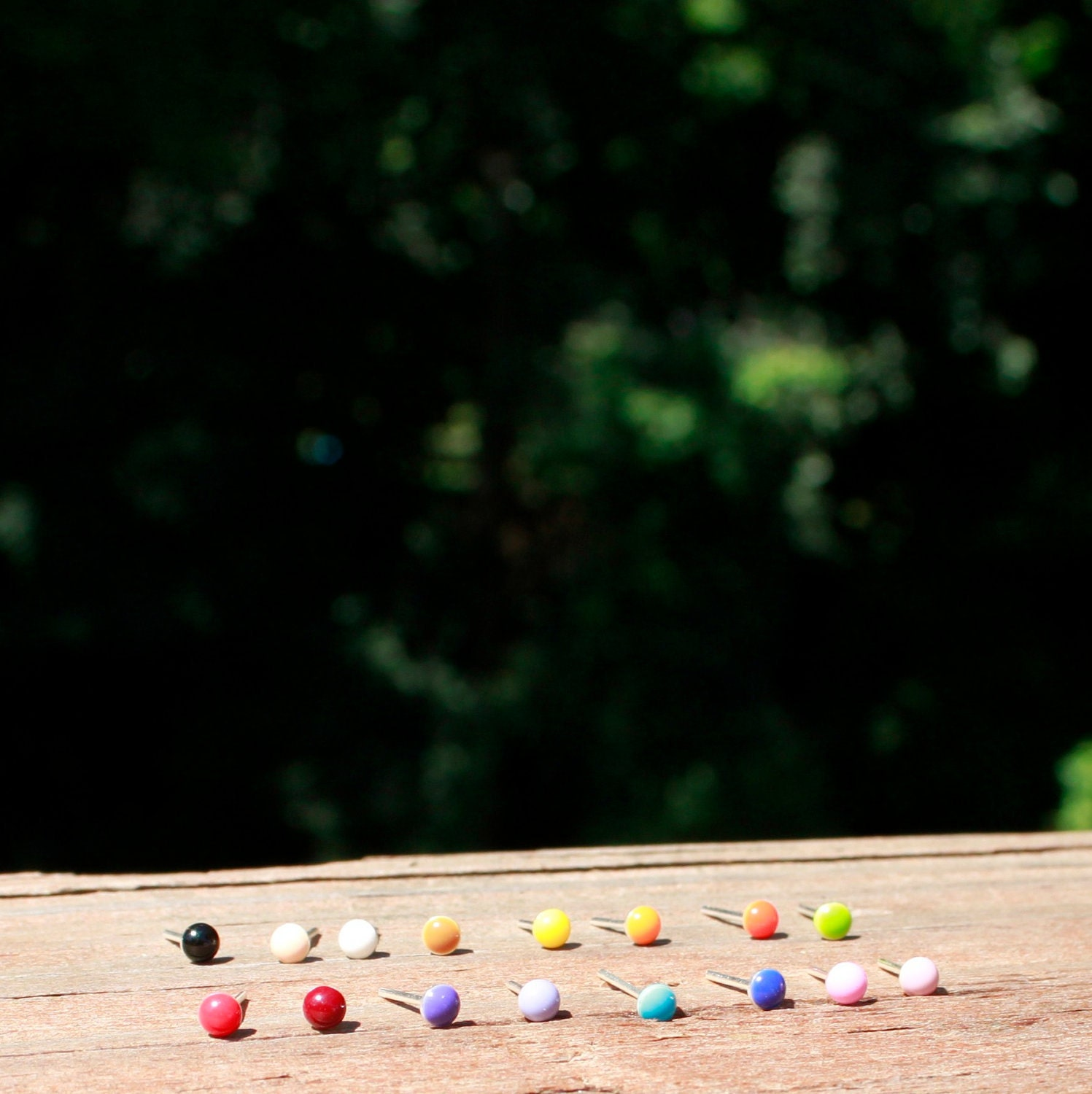 These colorful nose studs are made from sterling silver nose studs  title=