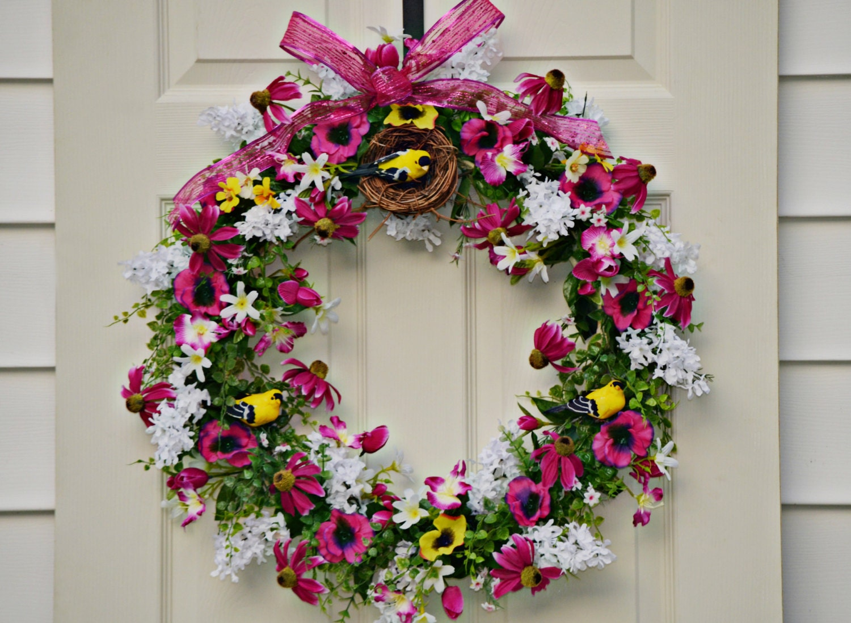 Spring Door Wreath Home Decor Gift Ideas By