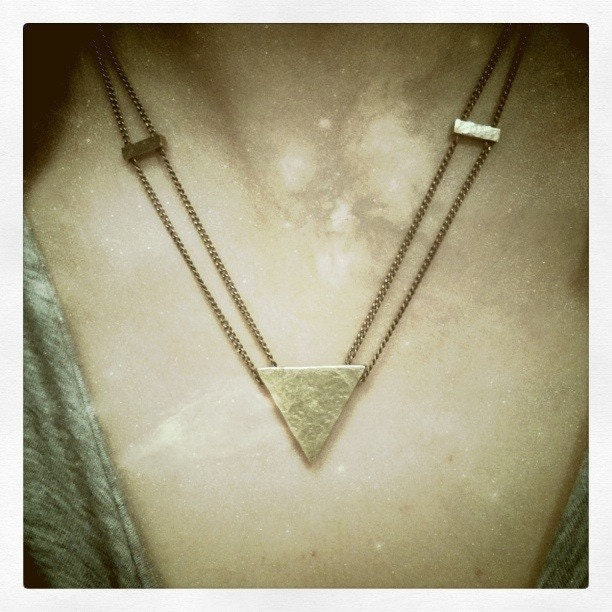 Heron's Triangle Necklace (Brass)