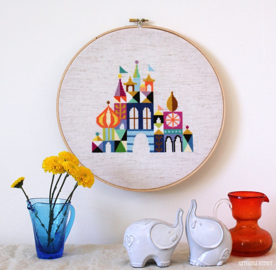 Pretty Little City - Disney-Inspired Cross stitch