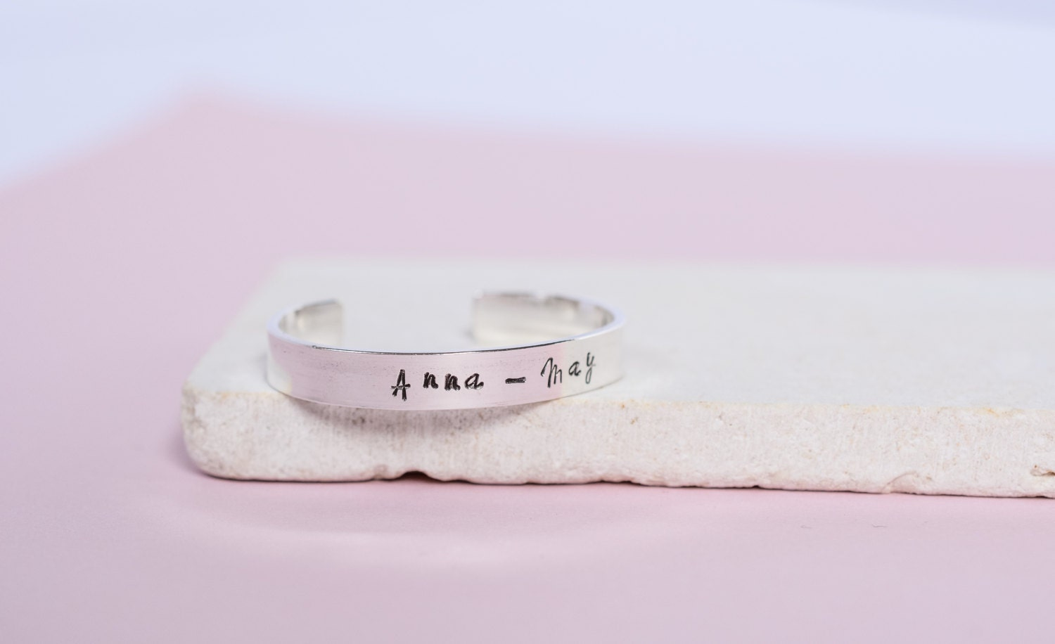 Silver Baby Bracelet  Personalised Sterling Silver Cuff  Childs Bracelet  Christening Gift  New Baby Bracelet
