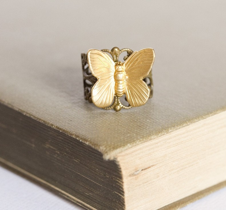 Gold Wings Ring