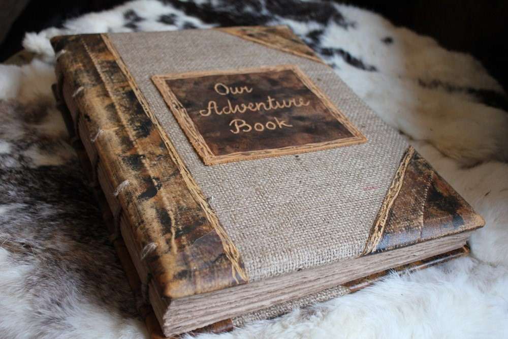 Custom Wedding Guest Book Rustic Extra Large Coptic By