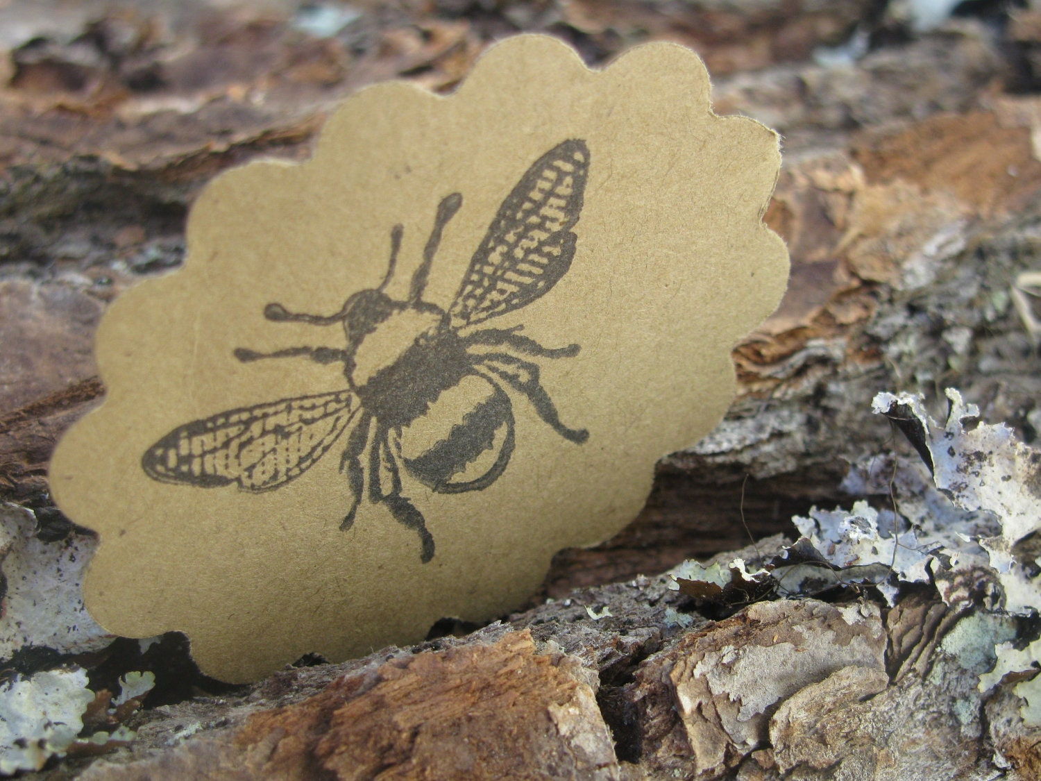 Bee Scallop Tags- Set of 20