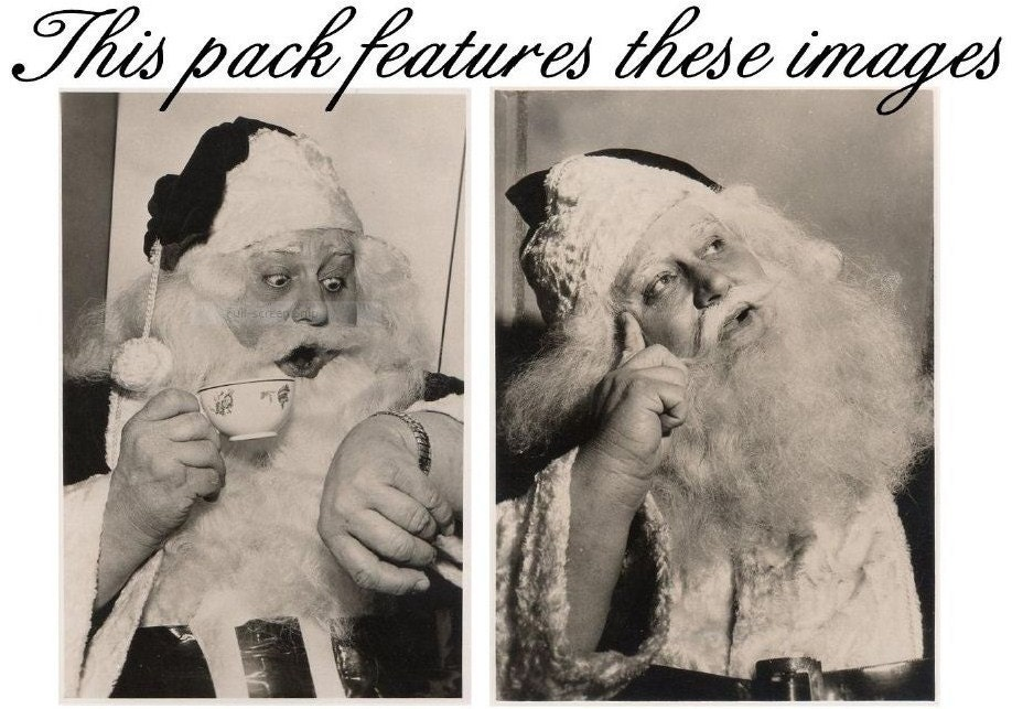 ANTIQUE VINTAGE CHRISTMAS SANTA POSTCARD NOTE CARDS