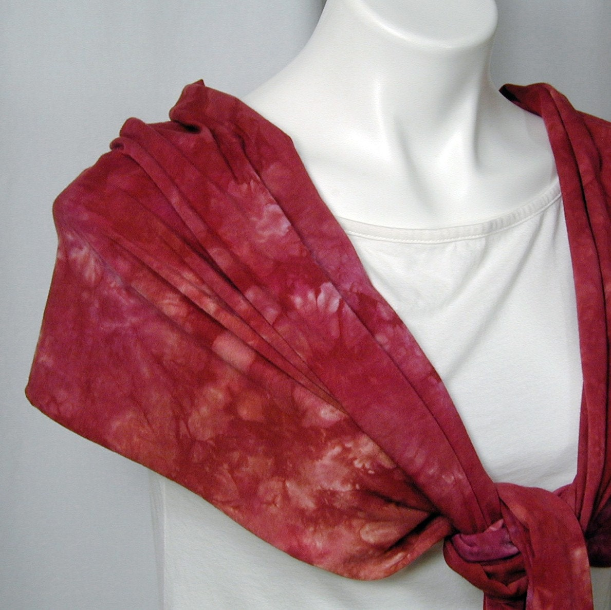 Bricks and Roses Fringed Bamboo Jersey Scarf (one size)