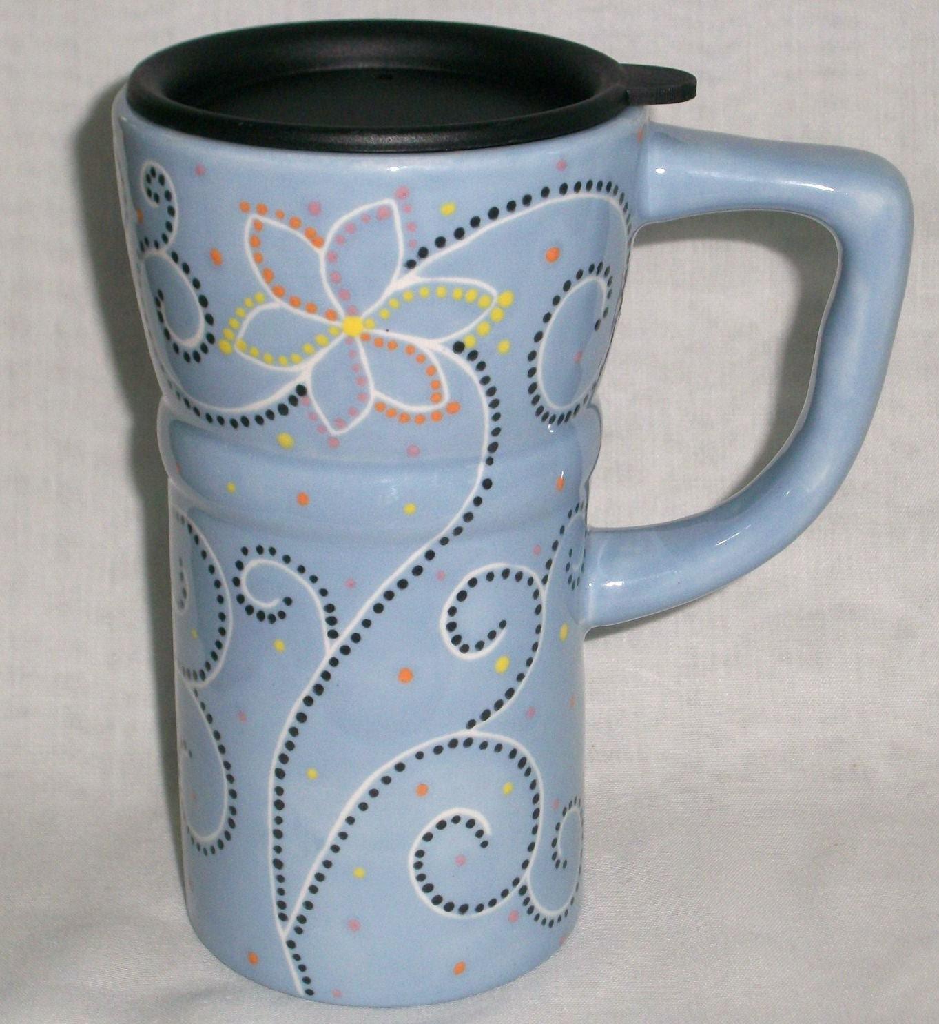 Eco Friendly Ceramic Coffee Travel Mug Light By