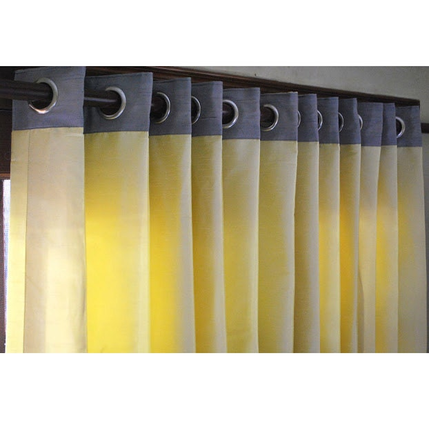 Window Curtains Gray And Yellow: White And Navy Curtain Panels 52x84 Grommet By TheHomeCentric