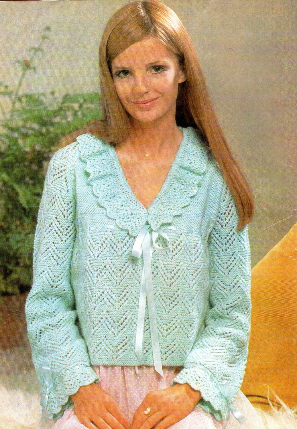 Bed Jacket Vintage Knitting Pattern Pdf by PamoolahVintage
